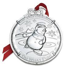 2016 silver snowman wallace ornament decor