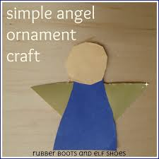 simple christmas angel ornaments rubber boots and elf shoes