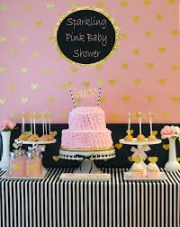 gold and pink baby shower sparkling pink baby shower