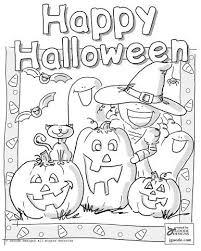 halloween scene coloring projects preschoolers