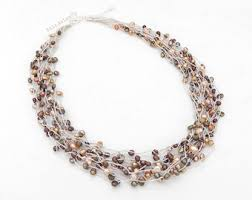 freshwater pearls necklace images Freshwater pearl necklace etsy jpg
