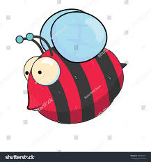 this cute cartoon bee that red stock illustration 238747837