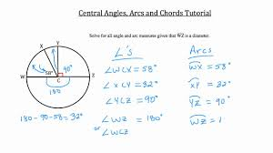 central angles arcs and chords textbook tactics youtube