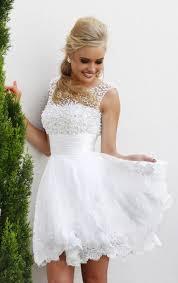 Short White Wedding Dresses New 2015 White Short Wedding Dresses The Brides Lace Wedding