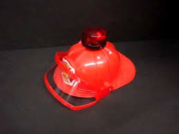 child s fireman helmet siren strobe lights sounds firefighter