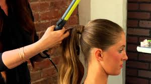barrel curl ponytaol how to do a formal ponytail with a curling iron mane street youtube