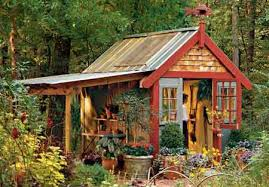 turn a tool shed into a charming cottage getaway shed diy plans