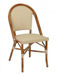 Woven Bistro Chairs Rattan Bistro Chairs With Natural Nylon Weave