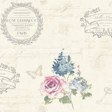 B Q Bedroom Wallpaper K2 Francelina Cream Floral Wallpaper Departments Diy At B U0026q