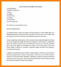 Resume Letter Of Intent 8 Letters Of Intent For Job Service Letters