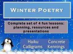 winter acrostic poem plan and resources poems teaching