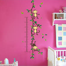 kids room wall decals stickers graphics home kids wall stickers alphabet growth chart