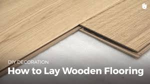 How To Start Installing Laminate Flooring How To Lay Wood Flooring Household Diy Projects Sikana