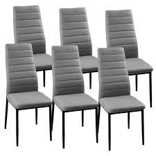 chaise grise giga matelassé lot de 6 achat vente chaise gris
