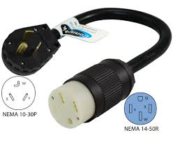amazon com conntek 30 amp nema 10 30p dryer plug to 50 amp