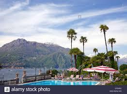 grounds of grand hotel villa serbelloni bellagio lake como stock