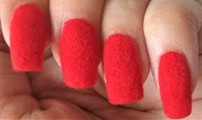 red velvet nail art ars arts easy flocking nails at home youtube