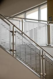 Metal Banisters Silhouette Railing System With Stainless Steel Guardrail Handrail