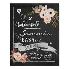baby shower welcome sign chalkboard welcome baby shower sign zazzle