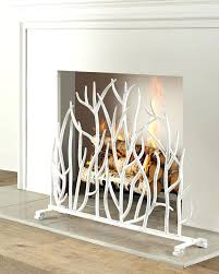 Hand Painted Fireplace Screens - can you paint brass fireplace screen screens black hand painted