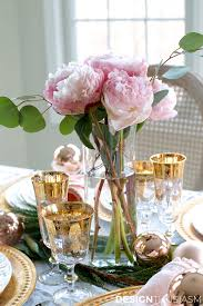 Gold Table Setting by A Classic Christmas Holiday Table Holiday Entertaining Blog Tour