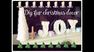 glam christmas home decor diy fur christmas tree and letters