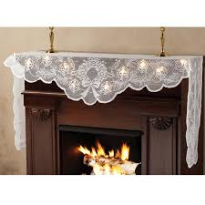 lighted mantel scarf lace mantel scarf walter