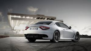 maserati coupe white white maserati granturismo in front of the building hd desktop