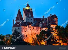 bran castle count draculas castle romaniathe stock photo 105132590