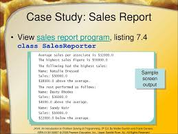 case study sample report arrays chapter ppt download case study sales report