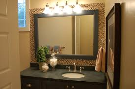 Gold Frame Bathroom Mirror Mosaic Tile Framed Bathroom Mirror Mesmerizing Interior Design Ideas