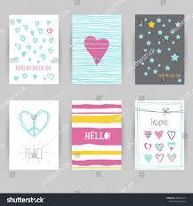 greeting card birthday invitation card confetti stock vector