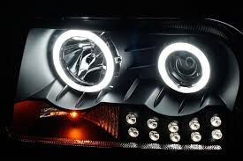 nissan frontier halo headlights amazon com sppc projector headlights l e d black ccfl halo for