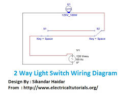 2 way light switch wiring diagram staircase wiring connection