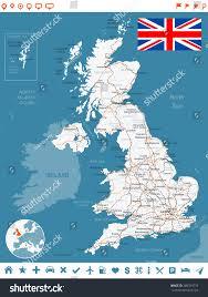 Bristol England Map by United Kingdom Map Flag Navigation Labels Stock Vector 280339733