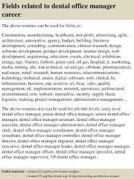 office manager resume top 8 dental office manager resume sles