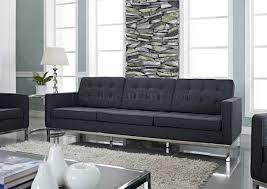 wool sofa in dark gray by modway w options