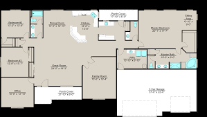 Floor Plans For Large Families by Lexar 3180 House Plan 3 Bedrooms 2 5 Bathrooms With 3 Car Garage