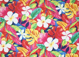 barkcloth hawaii fabrics tropical botanical vintage hawaiian