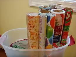 christmas paper storage handy crafty woman organized wrapping storage