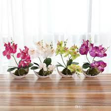 Home Floral Decor 2018 Artificial Butterfly Orchid Bonsai Simulation Decorative