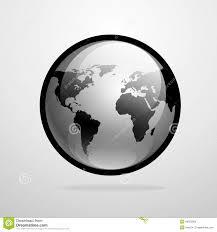 World Map Silhouette Vector Globe Icon World Map Silhouette Stock Illustration
