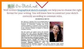 14 biographical sketch sample job apply letter