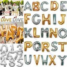 balloon decorations mylar number letter mylar foil balloons letters a z alphabet or 0 9 number balloon