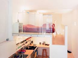 2 floor bed loft bed turns single floor studio to two level apartment