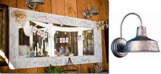 Galvanized Wall Sconce Barn Wall Sconces In Rustic Farmhouse Wedding