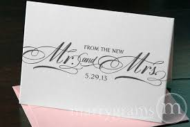 personalized thank you cards from the new mr mrs thank you card custom date calligraphy style
