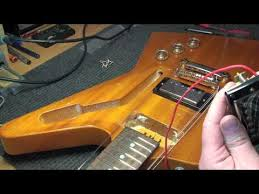 epiphone explorer korina 1958 emg installation demo youtube
