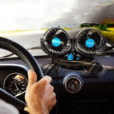 amazon com anpress 12v car auto cooling fan oscillating car air