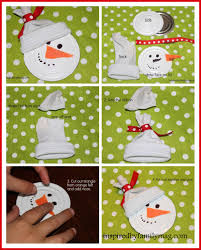 recycled ornament craft snowman ornament